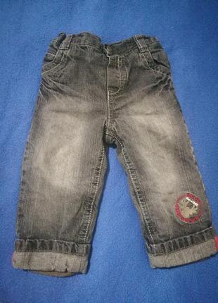 282 джинсы на флисе на рост 80 си