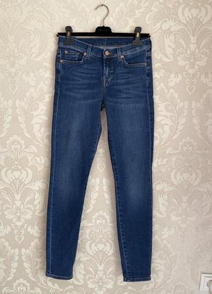 7 for all mankind оригинал синие джинсы скини
