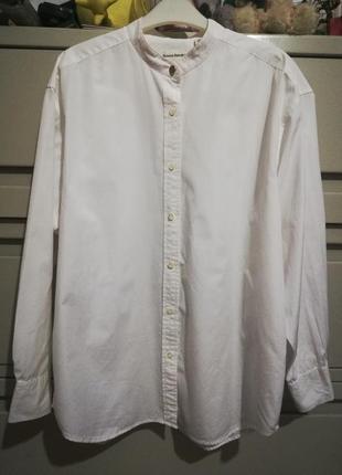 198 белая рубашка блуза бренд большой размер