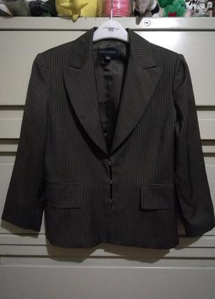 Жакет пиджак из тонкой шерсти брендовый