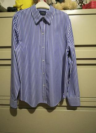 Фирменная рубашка свободного кроя chaps от ralph lauren
