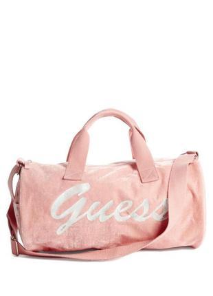 Розовая спортивная сумка guess для тренировок путешествий  бар...
