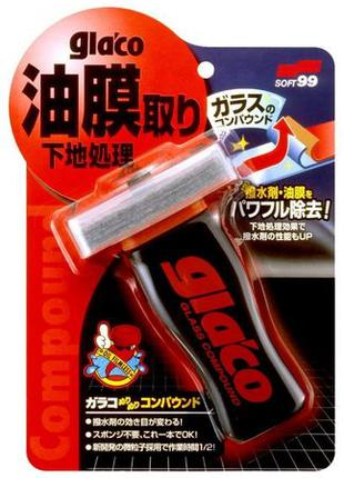 SOFT99_GLACO Glass Compound Roll On — абразивный очиститель дл...