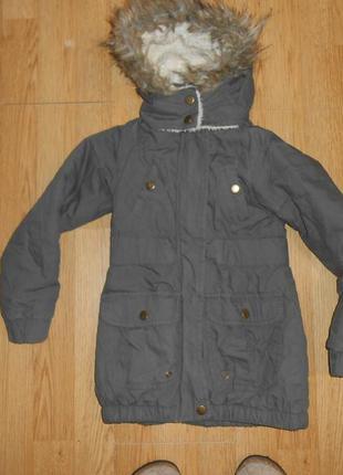 Куртка-парка на девочку 3-4 года
