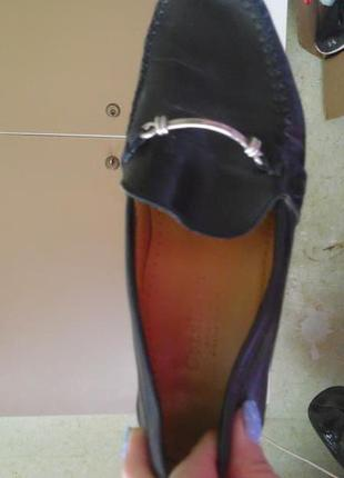 Кожаные туфли с металлической фурнитурой