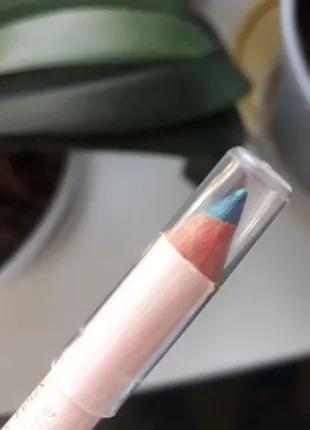 Двойной карандаш для глаз бирюзовый хаки Miss Den Paris Франция