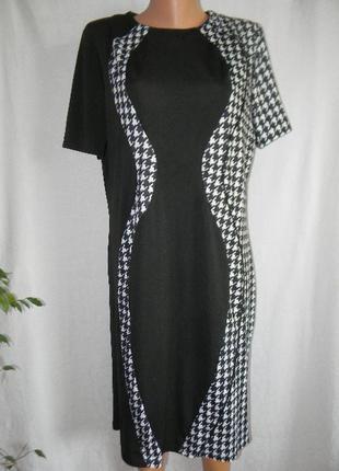 Элегантное платье гусиная лапка