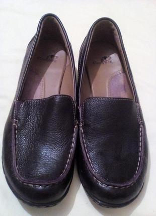 Кожаные туфли 37,5-38