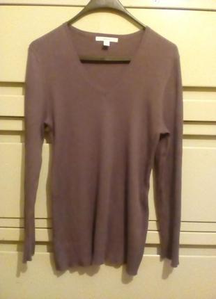 Пуловер базовый большого размера
