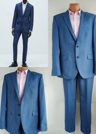 Деловой мужской костюм marks& spencer синего цвета