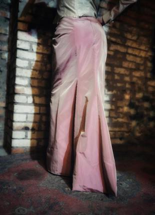 Юбка из тафты шанжан макси длинная вечерняя ацетат со шлейфом ...