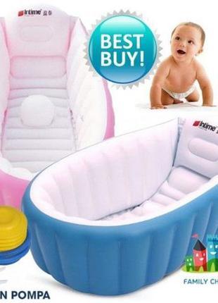 Надувная детская ванночка с насосом.