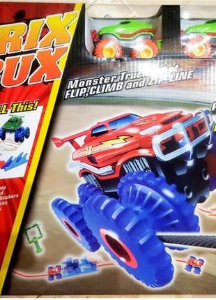 Конструктор Большой набор Trix Trux канатный трек 2 машинки Мо...