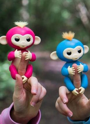 Интерактивная ручная умная обезьянка на палец Fingerlings робот