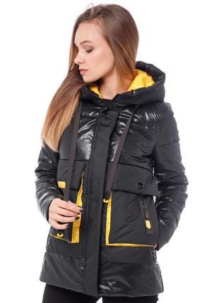 Черная женская куртка (42-50) демисезон