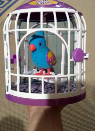 Попугай птица в клетке Little Live Pets