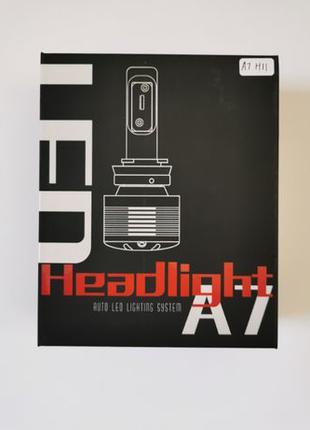 LED лампы Heaflight A7 (H8/H11, 72W, 6000K, 9 200LM)