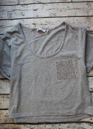 Стильная укороченная футболка кроп топ