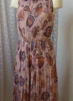 #розвантажуюсь нежное шифоновое платье сарафан плиссе