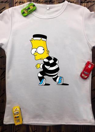 Мужская футболка с принтом - вор барт симпсон