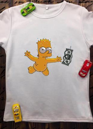 Мужская футболка с принтом - малыш бапт с деньгами