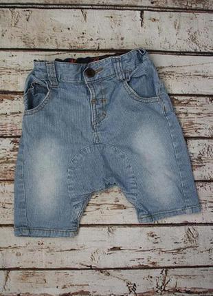 Стильные полосатые джинсовые шорты 2-3y
