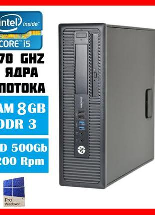 Комп'ютер HP 600 G1 SFF/Core i5 4570 3.6Ghz/RAM 8gb/HDD 500Gb