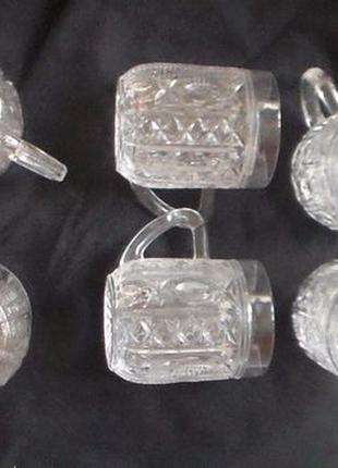 Бокалы пивные пиво стеклянные винтаж советские кружки миниатюрные
