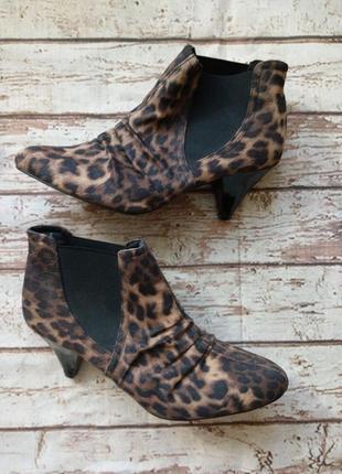 Трендовые сапожки челси 5/38 леопард животный принт