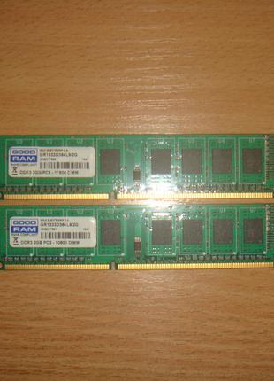 DDR3 - 4GB 1333 МГц. (2x2GB) GoodRam GR1333D364L9/2