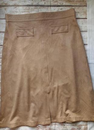 Стильная юбка из плотной замшевидной ткани на подкладке