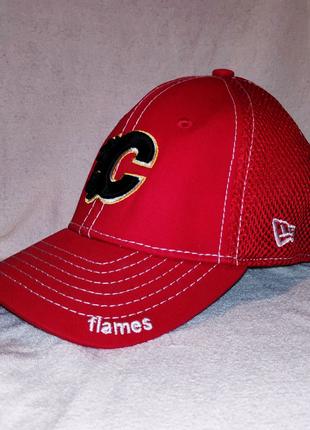 Кепка подростковая бейсболка хоккейная NewEra Calgary Flames NHL