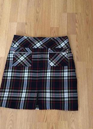 #розвантажуюсь. юбка в клетку мини бренда dorothy perkins р-р ...