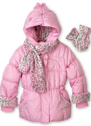 Очень красивая тёплая куртка zeroxposur из сша, 4т