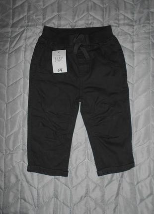 Темно-серые штаны george 9-12 мес, 12-18 мес