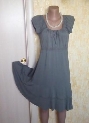 Меланжевое вискозное платье/платье/туника/сарафан