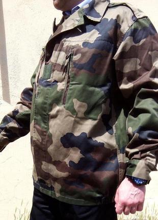 Настоящая военная куртка (VESTE/F2) ВВС Франции, новая, камуфл...