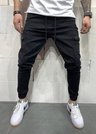 Джинсовые карго штаны