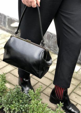 Винтажная,кожаная сумка,ридикюль ,ретро винтаж стиль