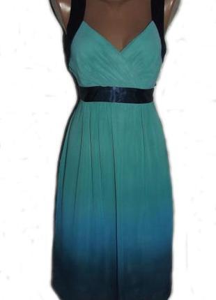 Платье сарафан сине-голубое градиент цвета / 10