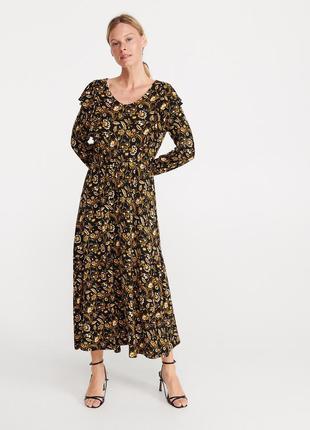 Платье макси в цветочный принт reserved