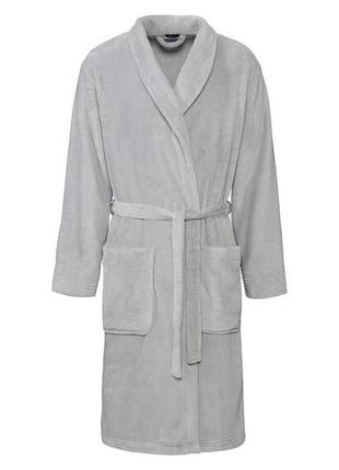 Плюшевий сірий халат miomare німеччина