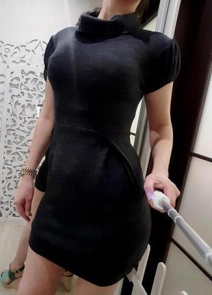 Платье австрия walg 30% шерсть альпака (лама) шерстяное серое ...