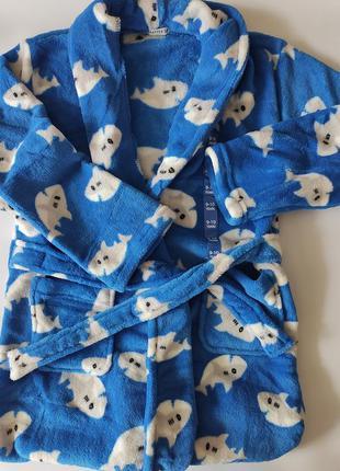 Детский халат на мальчика 9- 10 лет