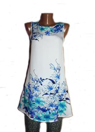Блуза туника /удлиненный топ / как платье / в градуированный п...