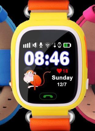 Смарт-часы детские UWatch Q90 GPS контроль звонки сообщения SOS W