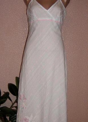Сарафан / летнее платье / 100% натуральное / в бельевом стиле,...