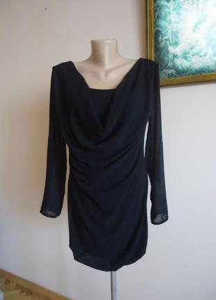 Блуза кофточка / как двойка черная с шифон. рукавами и передом...