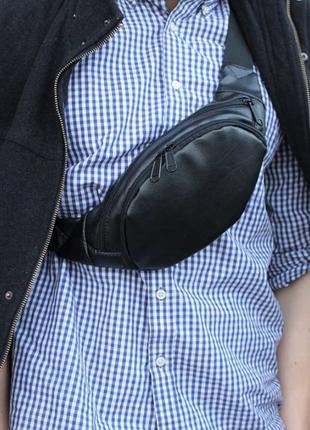 Мужская сумка бананка, мужская сумка на пояс, сумка на плечо
