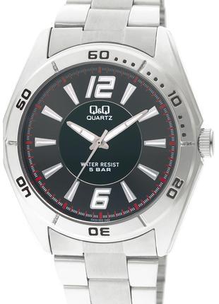 Мужские наручные часы на стальном браслете Q&Q Q470-202